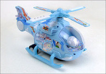 Electric air plane Toy detachable helicopter, flashing colourful lights,Musical plane toy gift w6609