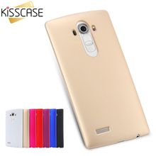 KISSCASE Stylish Oil Smooth Case for LG G4 H818 H818N H815 Hard Light Ultra Thin Candy Color Slim Back Phone Cover for LG G4