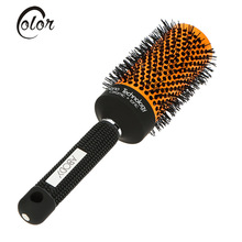 Abody Ceramic&Nylon Round Hair Brush Salon Curly Hairbrush Massage Bomb Quiff Roller Comb Hairdressing Styling Tools 5 Sizes
