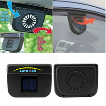 Solar Power Car Window Fan Auto Ventilator Cooler Air Vent Vehicle Ventilation(China)