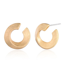 Brighton Classic Vintage Brincos Unique Circle Gold Silver Stud Earrings for Women Handmade Drawing Jewelry Fashion Accessories(China)