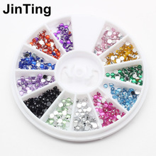 12 color mixed nail crystal diamond nail decoration For UV Gel Phone Laptop DIY nail design tools 3D color acrylic nail tools