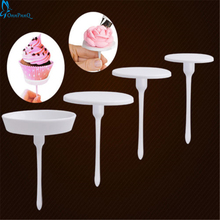 OnnPnnQ 1Set/4PCS New Sugarcraft Cupcake Cake Stand Icing Cream Flower Decorating Nail Set Tool