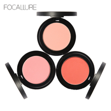 Focallure Natural Base Blush Makeup Foundation Waterproof Face Color Baked blushers Powder Professional For Women Beauty Face(China)