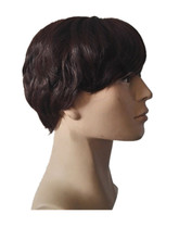 Fei-Show Short Wig Synthetic Heat Resistant Fiber Dark Brown Wavy Hair Male Man Hairpiece Black Hairpieces Light Brown Peruca(China)