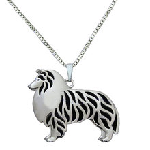 Women Animal Dog Necklace Pendant Silver Color Rough Collie Puppy Charm Choker Necklace For Girls Friends Dog Jewelry(China)