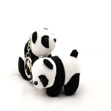 Hot Sell New products 9cm Small Panda doll Key chain knapsack mobile phone pendant Kawaii baby Plush Toys for Children gift(China)