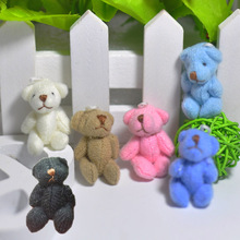 4cm Tiny Soft Teddy Bear Cute Little Stuffed Animals DIY Dolls 6color to choose