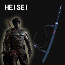 Cosplay Storm Shadow Ninja Sword Snake Eyes Black Western Movie Katana Real Steel Weapon(China)
