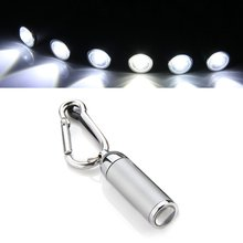 5Pcs/Lot X! Outdoor Fishing LED Mini Flashlight Torch Carabiner Keychain(China)