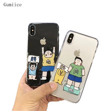 Gumiice 2018 new transparent soft case thin boy & fat boy meat mobile phone cases Discount for iPhone X free shipping(China)