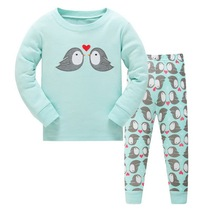 Animal Infant Baby Boy Clothes Set Long Sleeve Toddler Baby Girl Outfits Pajamas Set Newborn Baby Outfit Suit Clothin LWQ339(China)