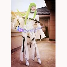 Hot Anime Code Geass C.C Action Figure Uniform Party Dress Cosplay Code Geass Costume Women Clothing Custom-made Any Size(China)