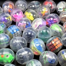 10 Pcs/lot Tuba Children Kids Babies Games Funny Plastic Toy Ball Animal In Shilly Egg Balls Surprise Egg (China)