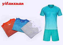 4 color DIY Soccer jerseys Set adult football Suit Custom Made Men Football Sport survetement de futbol shirts