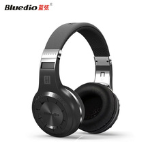 2017 HiFi Bluedio H+ Wireless Bluetooth Hand Free Headset Super Bass Music Headphone with Line-in Socket Microphone TF Card Slot(China)