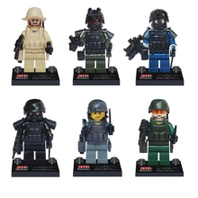6pcs SWAT military Against terrorism weapons Swat Police Military tactical Weapons Accessories Lepin Mini figures Original Toys