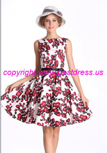 RED BLUSH ROSE FLAIR 50'S Dress Punk Pinup Rockabilly Retro plus size s-6xl R103(China)