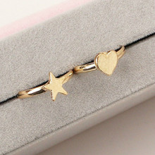 Korean Version Of The New Fashion Love Five Stars Adjustable Ring Birthday Gifts Christmas Gifts Female Rings Jewelry Wholesale