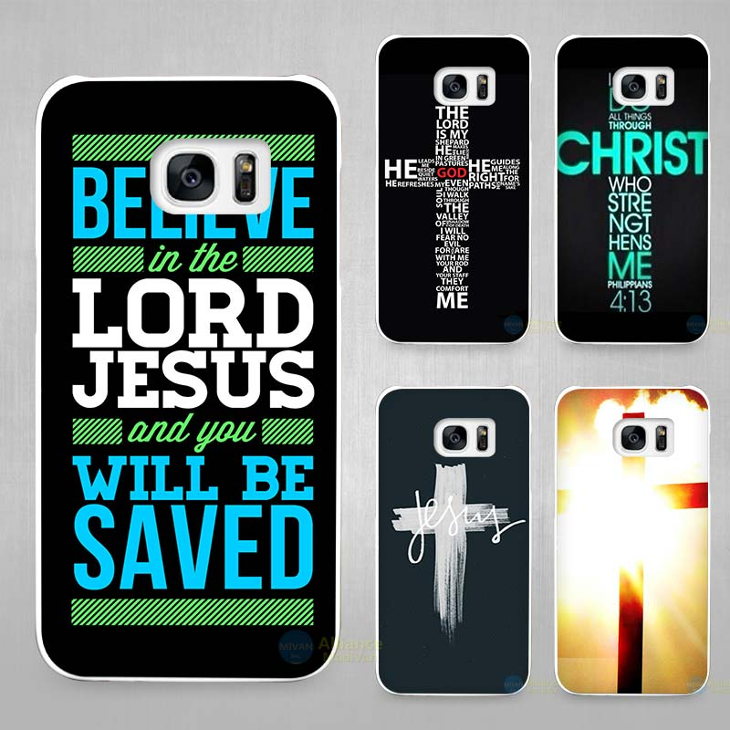 Christian Jesus The Cross Hard White Coque Shell Case Cover Phone Cases for Samsung Galaxy S4 S5 S6 S7 Edge Plus(China (Mainland))