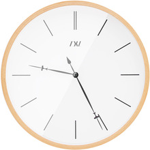 12.6 Inch Wood Wall Clock Large Numbers Modern Decorative Wooden Digital Wall Clock Arabic & Roman Numberals(China)