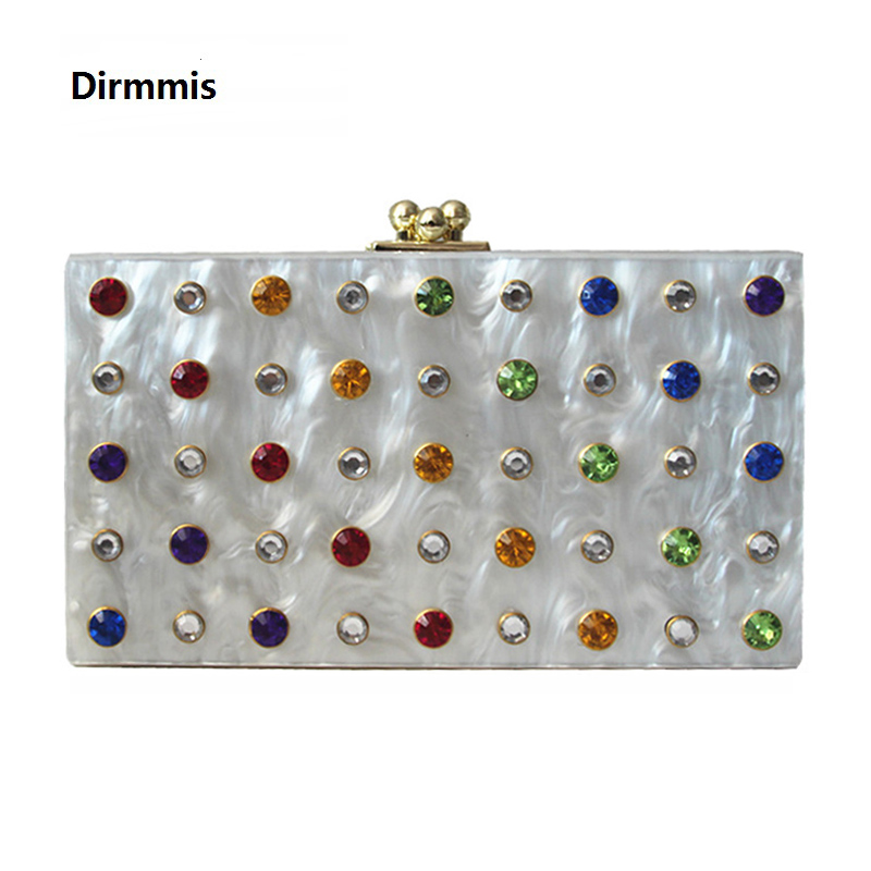 2018 new wallet brand fashion women messenger Clutch feminina elegant wedding handbag acrylic unique colorful diamond Eveningbag<br>