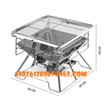 5-7 people foldable stainless steel barbecue stove outdoor barbecue rack portable outdoor charcoal barbecue home oven set