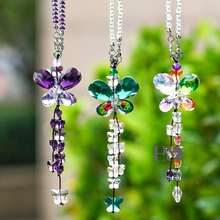 Set 3 Colorful Crystal Butterfly Lighting Suncatcher Crystal Pendant For Crystal Prism Chandelier Part Pretty Wedding Decoration