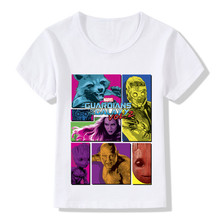 Children Fashion Guardians of the Galaxy 2 Groot Design T-Shirt Kids Cool Clothes Boys Girls Summer Short Sleeve Top Tee,HKP5088(China)