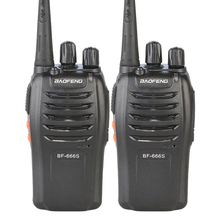 2PCS  Two Way Radio Baofeng BF-666S Walkie Talkie Handheld Pofung BF 666s 400-470MHz UHF Radio Scanner