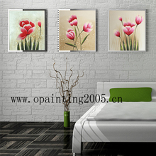 Hand Painted Modern White Pictures On Canvas Flowers Oil Painting Handmade Wall Art Calligraphy Painting Group Of Hang Pictures