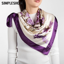 2017 Fashion Women Silk Scarf Female Cotton Luxury Brand Square Scarves Long Size bufanda Shawl Girls Wraps Women Square Scarvf