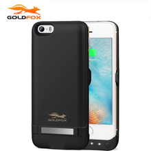 GOLDFOX Battery Charger Case for iPhone 5 5S SE 4200mAh Backup Battery Wireless Charging Power Bank External Charge Phone Case(China)