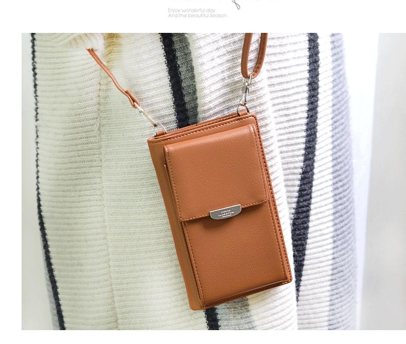 19 New Women Casual Wallet Brand Cell Phone Wallet Big Card Holders Wallet Handbag Purse Clutch Messenger Shoulder Straps Bag 19