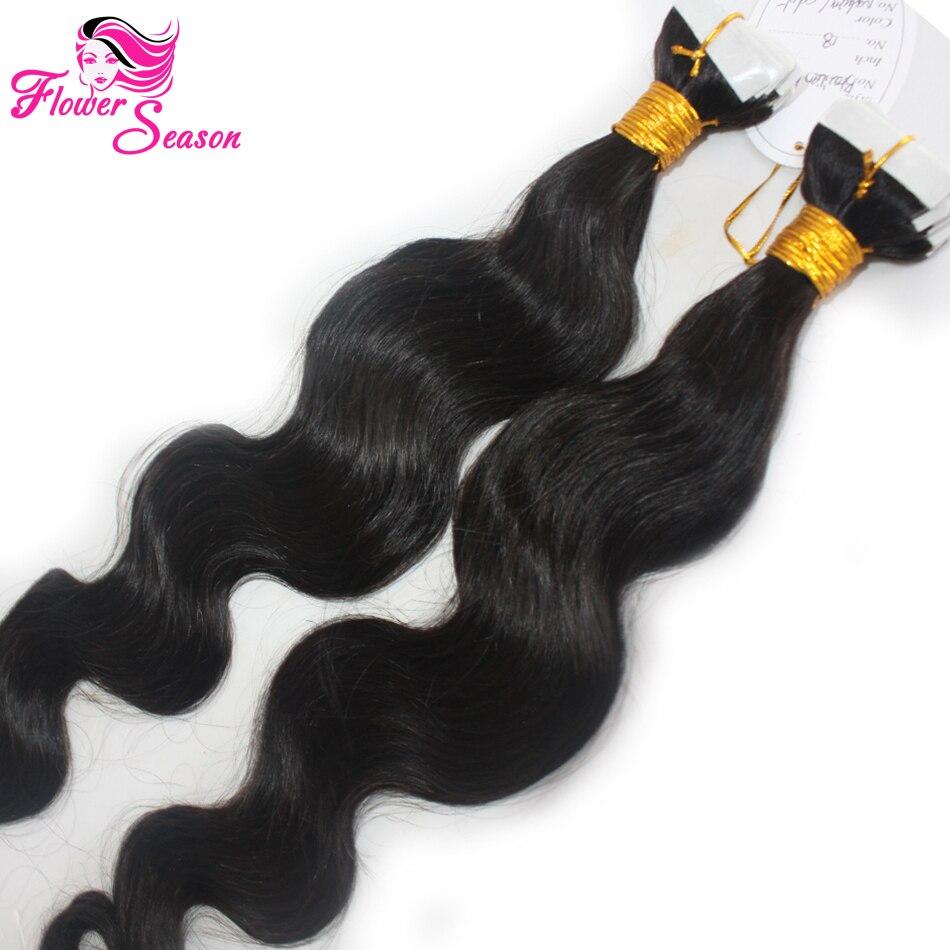 7A European Tape Hair Extensions Brazilian Remy Hair Body Wavy Tape Hair Extensions 40 Pieces 100g/set Human Hair Skin Weft<br><br>Aliexpress