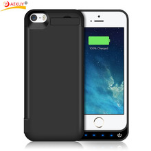 New 4200mAh Portable Backup External Battery Charger Case Power Bank Pack Charging Cases Cover For iPhone 5 5S SE Battery case(China)