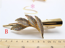 1pcs Fashion Hairwear Gold  Leaf Rhinestone Headband  Vintage Hair Pin Women Hair Clip Hair Jewelry Vintage Accessories 1603-1