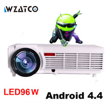 WZATCO LED96 TV Projector Full HD 1080P Android 4.4 Wifi smart RJ45 3D Home theater Video Proyector LCD Projector Beamer for KTV