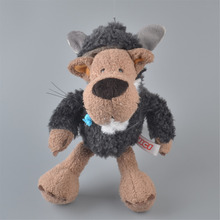 NICI 25cm Dark Gray Sheep Clothes Wolf Stuffed Plush Toy, Baby Kids Doll Gift Free Shipping(China)