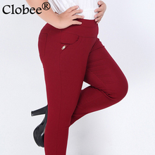 2017 New Women's Plus Size 6XL Pencil Pants, 11 Style Fashion High Waist Female Stretch Slim Pants / Trousers/Leggings