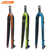 the new Toseek Full carbon fiber Mountain Bike fork 26/27.5/ 29-inch 520g blue green orange edition hard bicycle fork