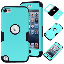 3-in-1 Case Cover For iPod Touch 5 Hybrid Hard&Soft Silicone TPU Full Body Phone Case Shell w/Screen Protector Film+Stylus Pen