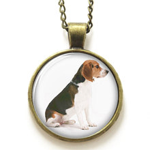 10pcs/lot   Beagle  necklace , Sitting cute dog print Photo Dog  necklace