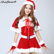 Chafferer Cloak Miss Santa Claus Christma Costumes Dress New Year Festival Party Performance Uniform Adult Cosplay Sexy Lingerie(China)