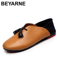 Handmade genuine leather ballet flat shoes women female slip on leather car-styling flat shoes casual shoes tassel women shoes(China)