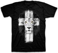 Buy New Mens Jesus Kerusso Brand Christian T-Shirt Mens Lion Cross Fear Tops Tee Shirts Casual Harajuku Camisetas Hombre T Shirt for $16.00 in AliExpress store