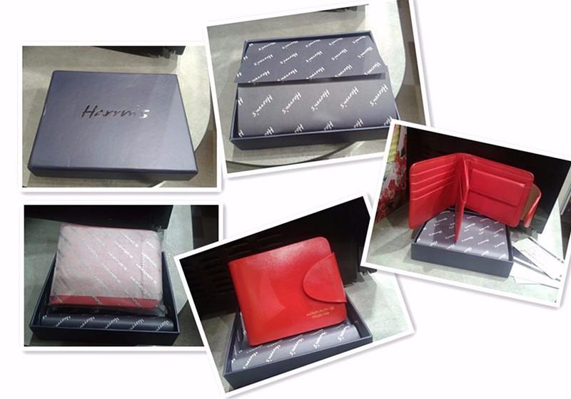 HTB1wmxlNFXXXXaOXXXXq6xXFXXXq - Harrm's Brand Classical Fashion genuine leather women wallets short red blue Color female lady Purse for women with coin pocket