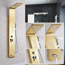 Good Price Fashionable Design Rainfall Shower head for Bathroom Shower Panel Shower Column(China)