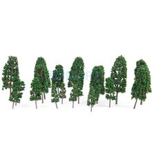 20 pcs 4 sizes HO Scale Model Trees Pine Trees Model Railroad/Diorama--Dark Green HOT SALES(China)