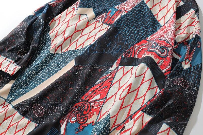 Ukiyo E Geometry Patchwork Shirts 7